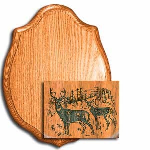 "WHITETAIL LASER PANEL WALNUT 9"" X 12"""