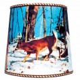 DEER LAMPSHADE 14""