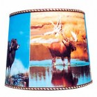 ANTLERED GAME LAMPSHADE 14""