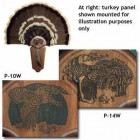 WOOD SCENE LASER TURKEY FAN