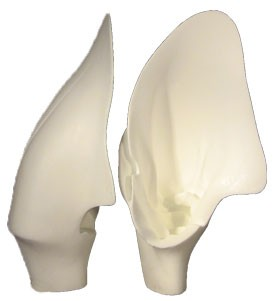 """3D COMPETITION EARS WOLF 4 1/2"""" x 2 5/8"""""""