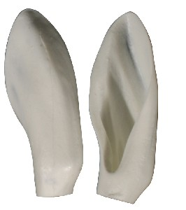 """3D COMPETITION EARS DAHL SHEEP 3 3/8"""" x 1 3/8"""