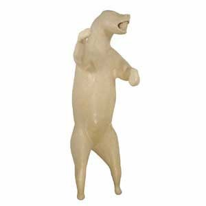 BLACK BEAR LIFESIZE LT ON HIND LEGS OM DETAIL