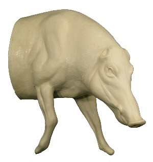 WILD BOAR 1/2 LIFESIZE RT WALKING  HEAD DOWN