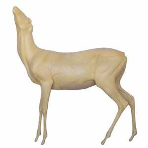 WHITETAIL LIFESIZE LT STANDING BROWSER