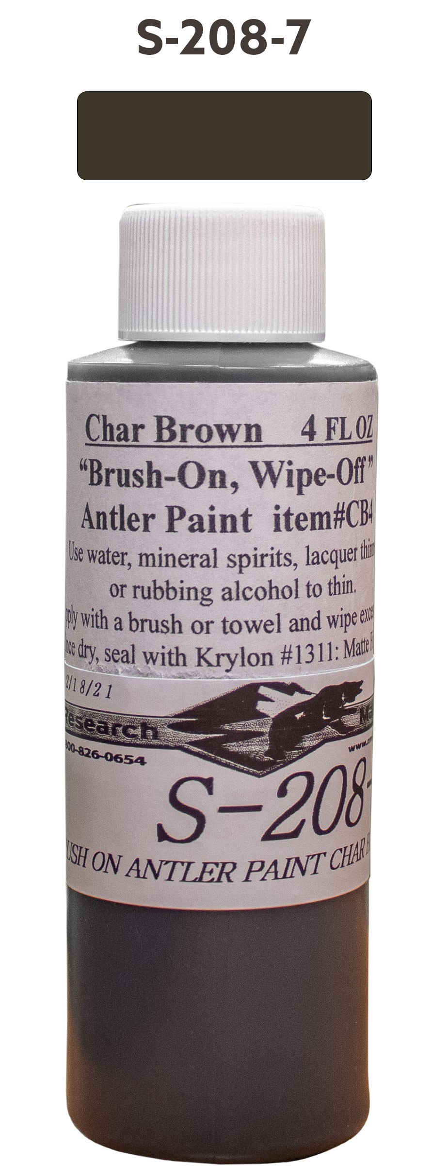 BRUSH ON ANTLER PAINTCHAR BROWN 4OZ
