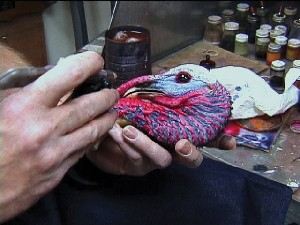 PAINTING TURKEY HEADS & FEET