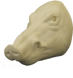 WILD BOAR CLOSED MOUTH HEAD ONLY 11 3/4 E-N