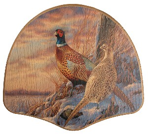 PHESANT BOARD WITH HEN