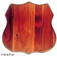 "MED HORN MOUNT PANEL WALNUT 13"" X 13"""