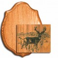 "MULE DEER LASER PANEL WALNUT 9"" X 12"""