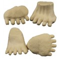 MED KODIAK/BROWN BEAR FEET (SET OF 4)